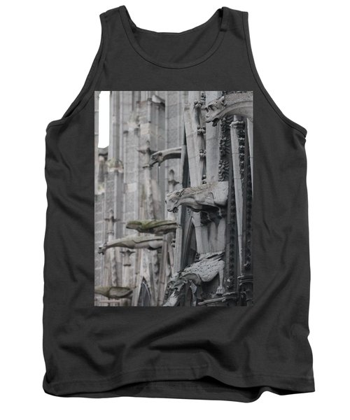 Tank Top featuring the photograph Gargoyles North Notre Dame by Christopher Kirby