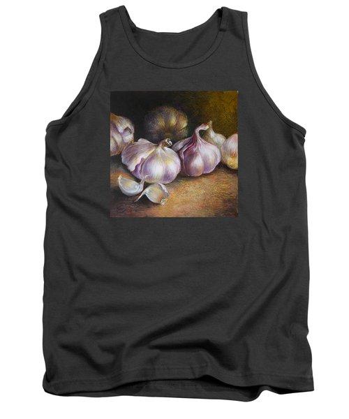 Garlic Painting Tank Top by Vali Irina Ciobanu