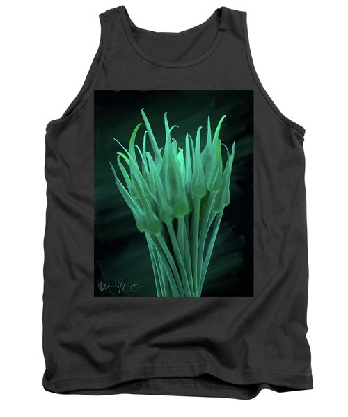 Garlic Scapes 01 Tank Top by Wally Hampton