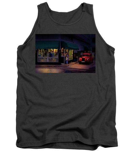 Tank Top featuring the photograph Gasolinera Linea Y Calle E Havana Cuba by Charles Harden