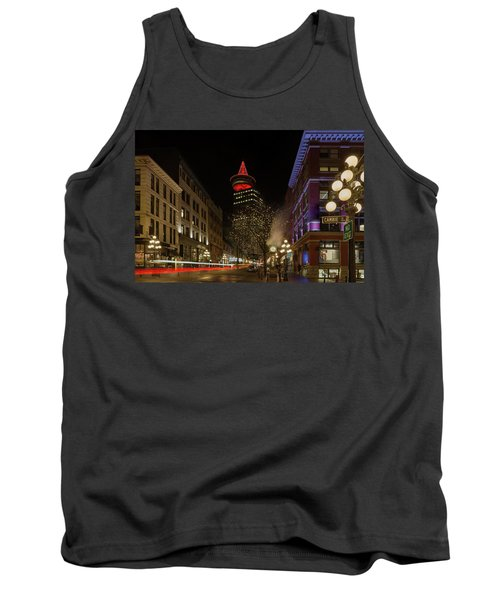 Gastown In Vancouver Bc At Night Tank Top