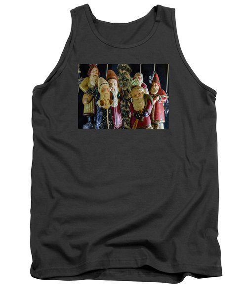 Gathering Of Father Christmas Tank Top