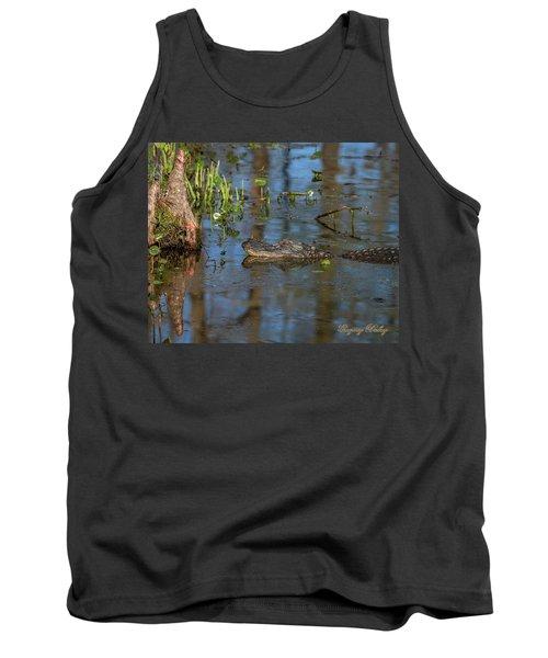Gator In Cypress Lake 3 Tank Top