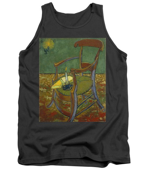 Tank Top featuring the painting Gauguin's Chair by Van Gogh