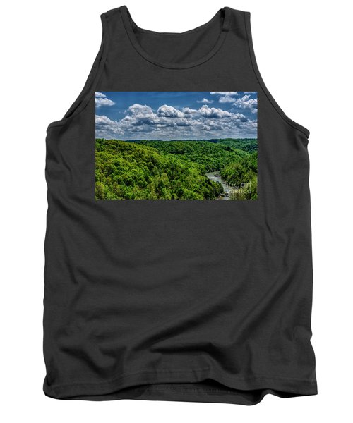 Gauley River Canyon And Clouds Tank Top