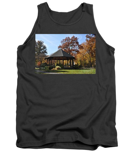 Gazebo At North Ridgeville - Autumn Tank Top