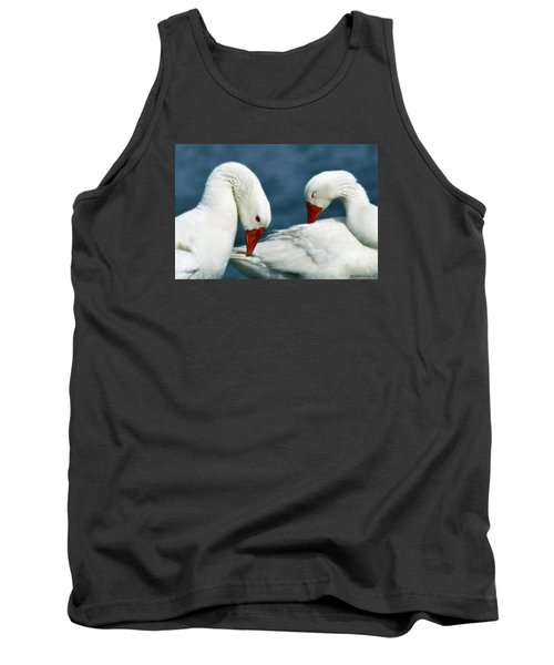 Tank Top featuring the photograph Geese Love 01 by Kevin Chippindall