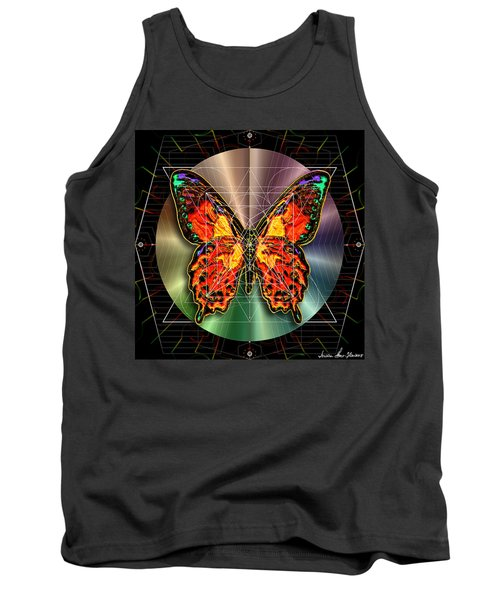 Tank Top featuring the digital art Geometron Fyr Lepidoptera by Iowan Stone-Flowers