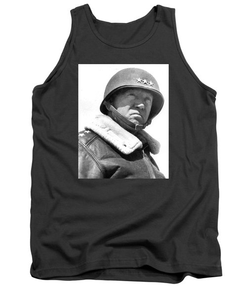 George S. Patton Unknown Date Tank Top by David Lee Guss