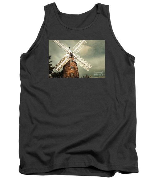 Tank Top featuring the photograph Georgian Stone Windmill  by Jorgo Photography - Wall Art Gallery