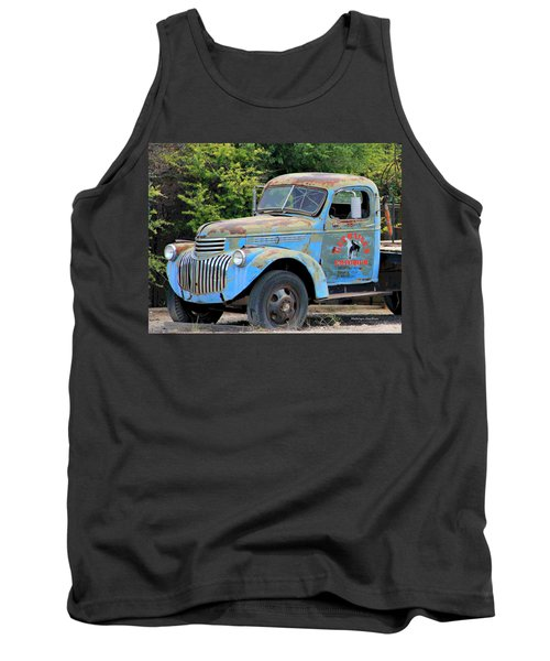 Geraine's Blue Truck Tank Top