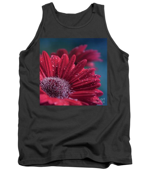 Tank Top featuring the photograph Gerbera Red Jewel by Sharon Mau