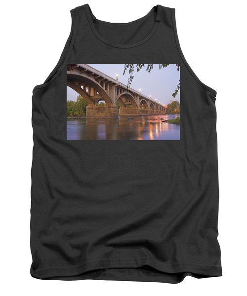 Tank Top featuring the photograph Gervais Bridge by Steven Richardson