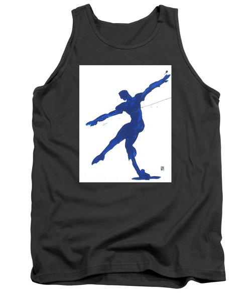 Gesture Brush Blue 2 Tank Top by Shungaboy X