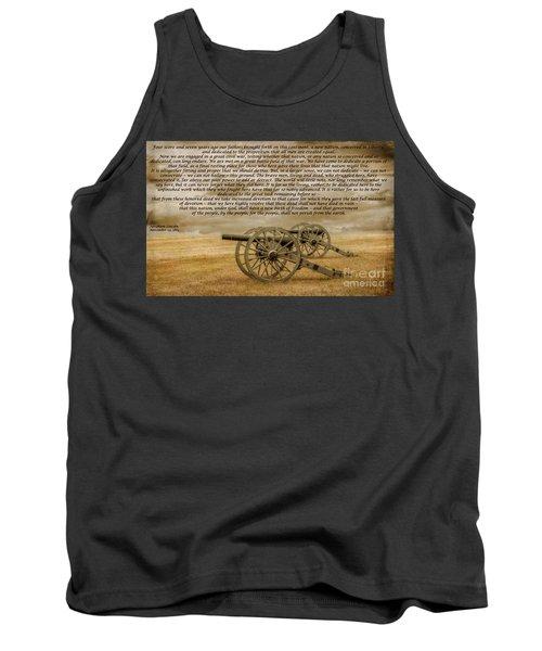 Gettysburg Address Cannon Tank Top