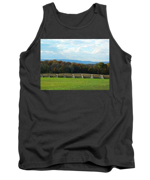 Tank Top featuring the photograph Gettysburg Battlefield And Beyond by Emmy Marie Vickers
