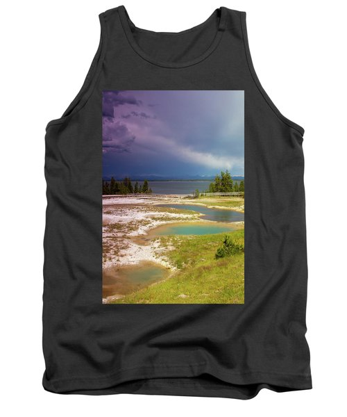 Tank Top featuring the photograph Geysers Pools by Dawn Romine