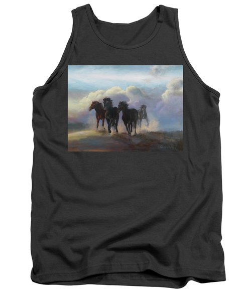 Ghost Horses Tank Top by Karen Kennedy Chatham