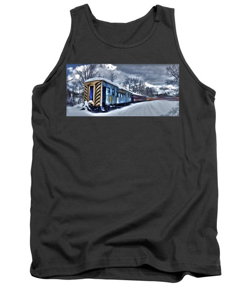 Ghost Train In An Existential Storm Tank Top