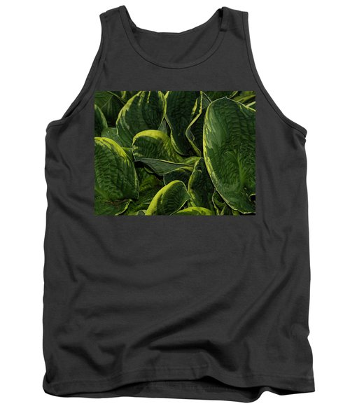 Giant Hosta Closeup Tank Top
