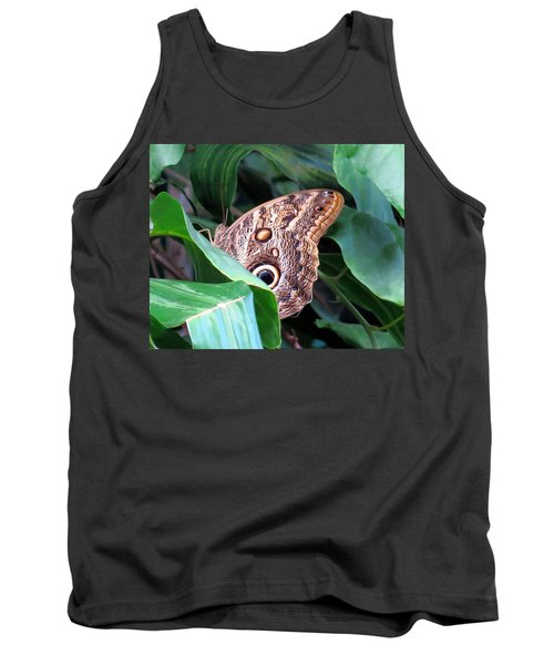 Giant Owl Butterfly Tank Top by Betty Buller Whitehead