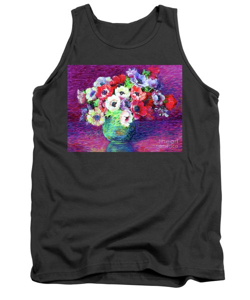 Gift Of Anemones Tank Top by Jane Small
