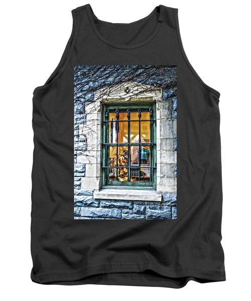 Tank Top featuring the photograph Gift Shop Window by Sandy Moulder