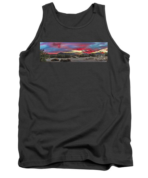 Tank Top featuring the photograph Gila Mountains And Sonoran Desert Sunrise by Robert Bales