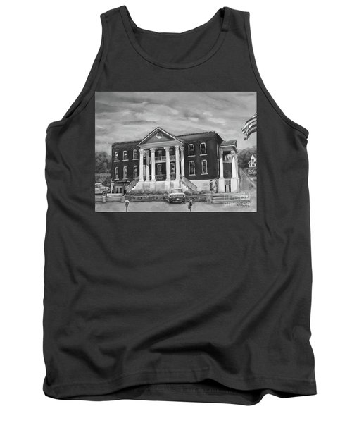 Gilmer County Old Courthouse - Black And White Tank Top