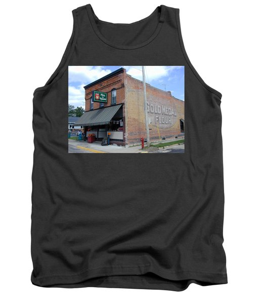 Tank Top featuring the photograph Gina's Pies Are Square by Mark Czerniec