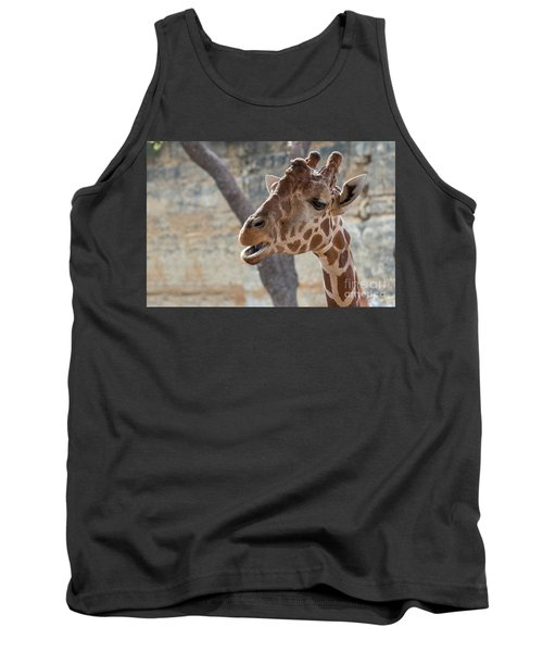 Girafe Head About To Grab Food Tank Top