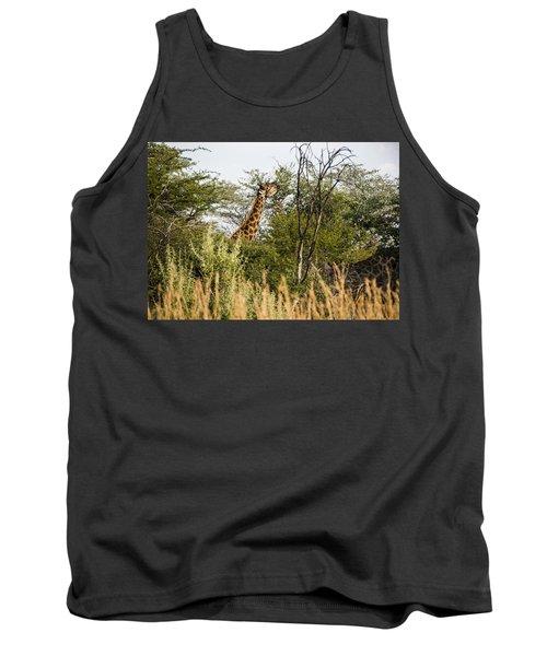 Giraffe Browsing Tank Top