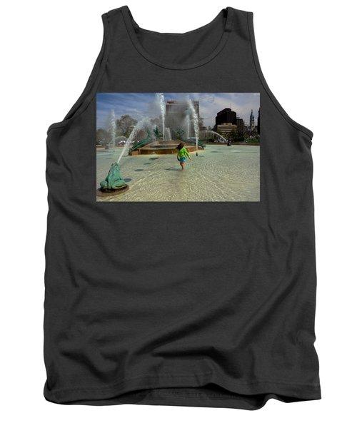 Girl In Fountain Tank Top