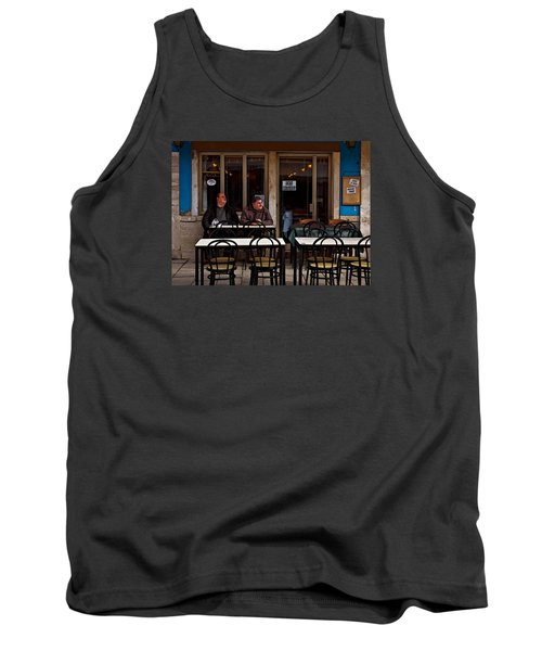 Tank Top featuring the photograph Girl Watching by Laura Ragland