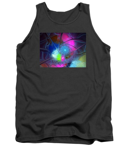 Tank Top featuring the digital art Girls Love Pink by Karin Kuhlmann