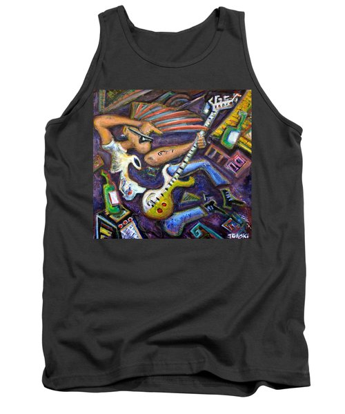 Give Em The Boot - Punk Rock Cubism Tank Top by Jason Gluskin