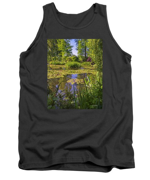 Tank Top featuring the photograph Giverny France - Claude Monet's Pond  by Allen Sheffield