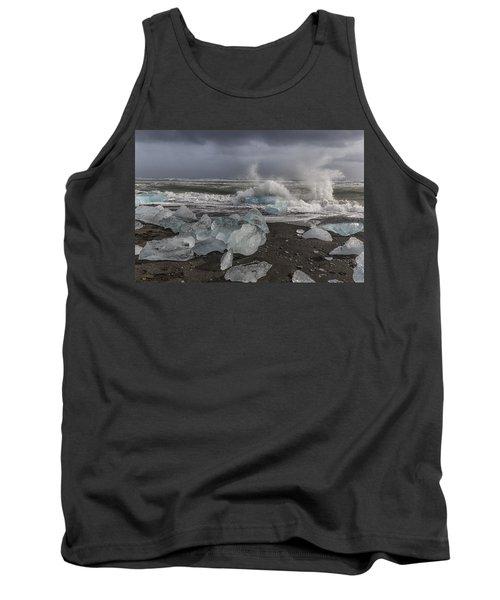 Glacial Lagoon Iceland 2 Tank Top
