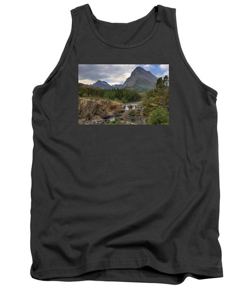 Glacier National Park Landscape Tank Top by Alan Toepfer