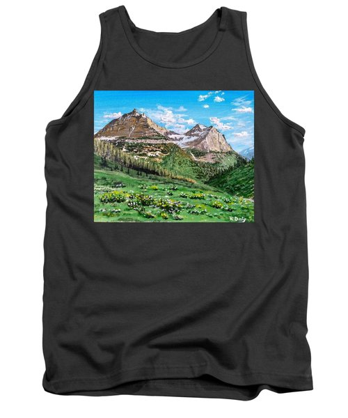 Tank Top featuring the painting Glacier Summer by Kevin Daly