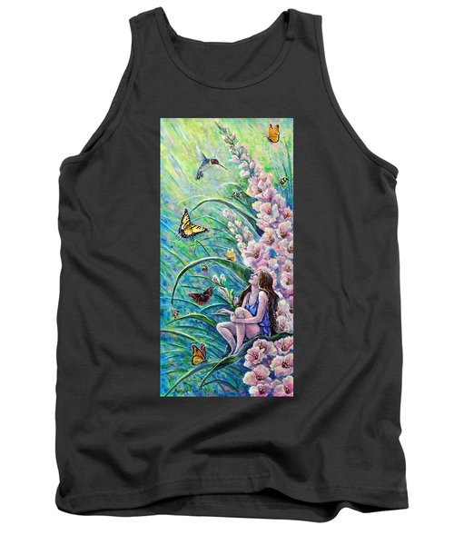 Glad To Be Here Tank Top by Gail Butler