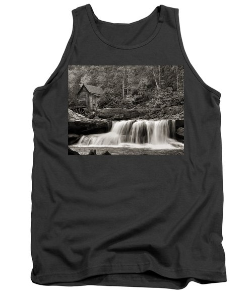 Glade Creek Grist Mill Monochrome Tank Top by Chris Flees