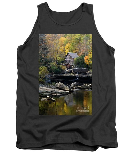 Tank Top featuring the photograph Glade Creek Grist Mill - D009975 by Daniel Dempster