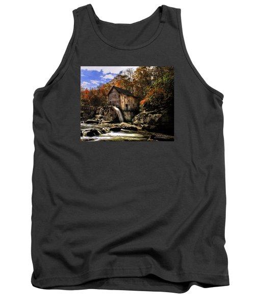 Glade Creek Grist Mill Tank Top by Mark Allen