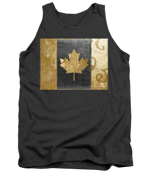 Glamour Gold Canada Flag Tank Top