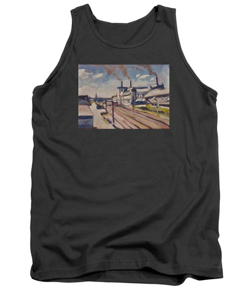 Glass Factory Along The Railway Track Tank Top