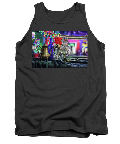 Glass In The Frame Of Colorful Hearts Tank Top