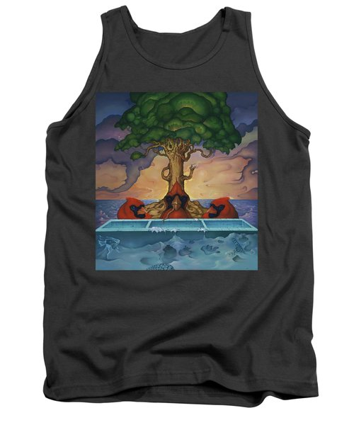 Tank Top featuring the painting Global Warming And The Ridiculousness Of Discussing The Next Ice Age by Andrew Batcheller