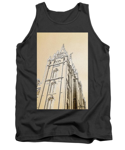 Tank Top featuring the drawing Glory And Majesty by Greg Collins