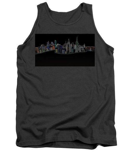 Glowing City Tank Top by Thomas M Pikolin